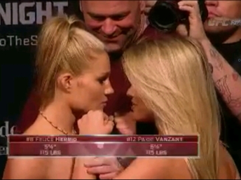 Felice Herring Vs. Paige VanZant UFC Fight Night New Jersey Face off