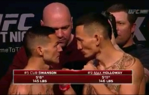 Cub Swanson Vs. Max Holloway UFC Fight Night New Jersey Face Off