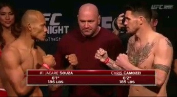 Jacare Souza Vs. Chris Camozzi UFC Fight Night New Jersey Face off