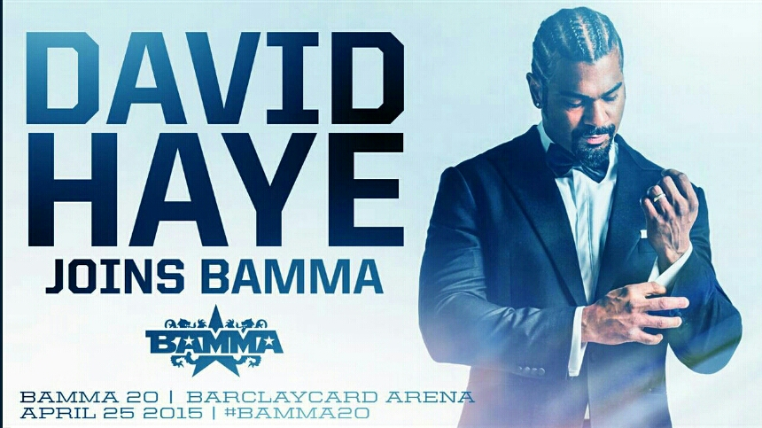 David Haye Joins the BAMMA Presenting Team on April 25th Live on SPIKE TV
