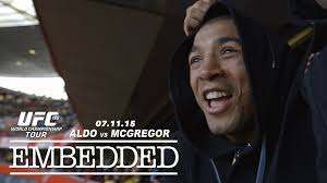 UFC 189 World Championship Tour Embedded: Ep 9 'As a Champion, you have to promote the fight well' Jose Aldo