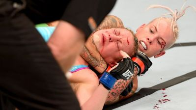 Bec Rawlings with the RNC on Lisa Ellis UFC Adelaide