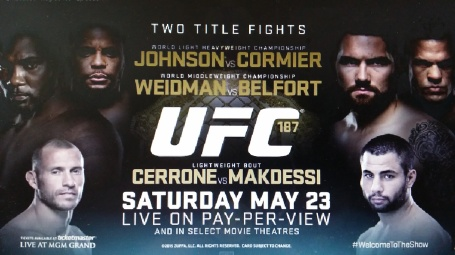 UFC 187 Event Poster