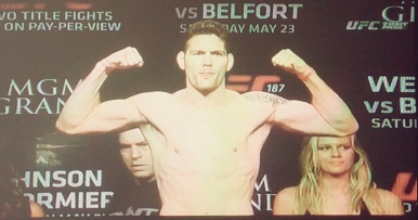 Chris Weidman Weigh-in UFC 187