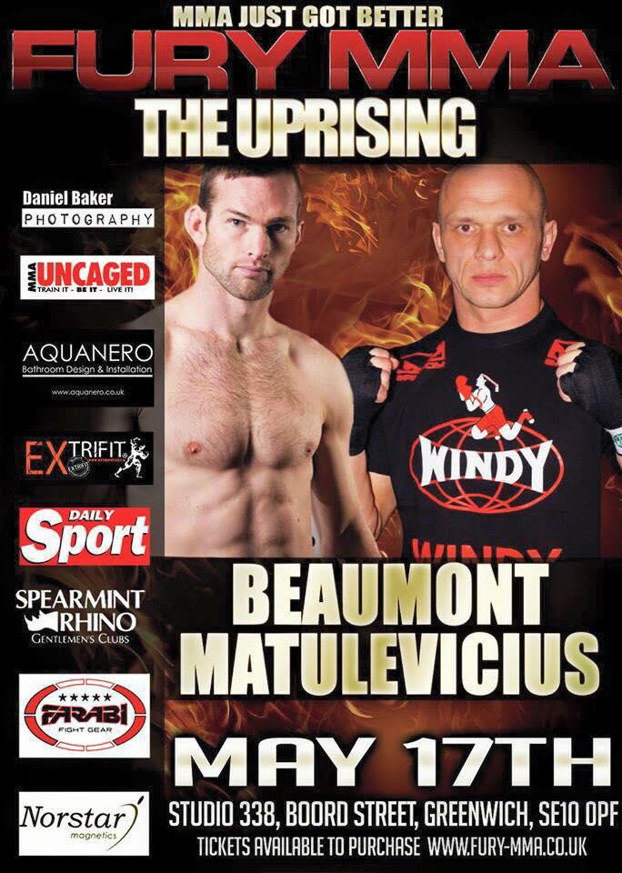FURY MMA –  The Uprising  at Studio 338 May17th