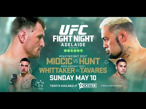 UFC Adelaide Full Results: Miocic vs.Hunt