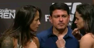 Juliana Lima vs. Ericka Almeida Face Off UFC Fight Night Goiania