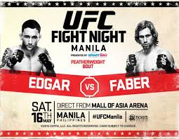 UFC FIGHT NIGHT MANILA: EDGAR (146 lbs) vs FABER (145 lbs) Weigh-In Results