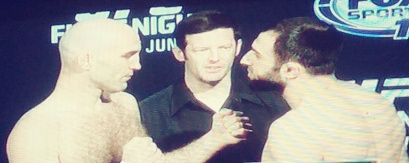 Omar Akhmedov vs Brian Ebersols Face Off UFCNOLA