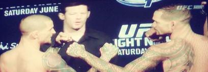 Yancy Mederios vs Dustin  Pourer Face Off UFC NOLA
