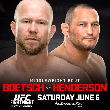 UFC Fight Night 68 New Orleans Fight Results: Henderson KO's Boestch in 28seconds