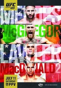 UFC 189 McGregor vs  Mendes