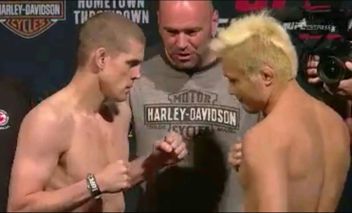 UFC on FOX 16: Dillashaw 135 lbs  VS.  Barao 135 lbs Official Weigh-InResults