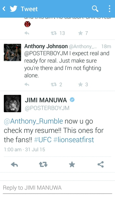 Screens hots Anthony rumble vs jimi manuwa