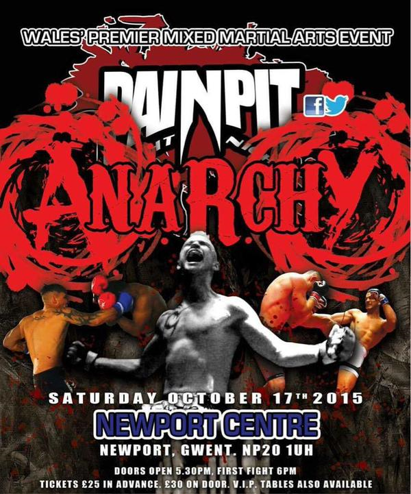 Pain Pit:  Anarchy – Full Fight Results October 17th 2015
