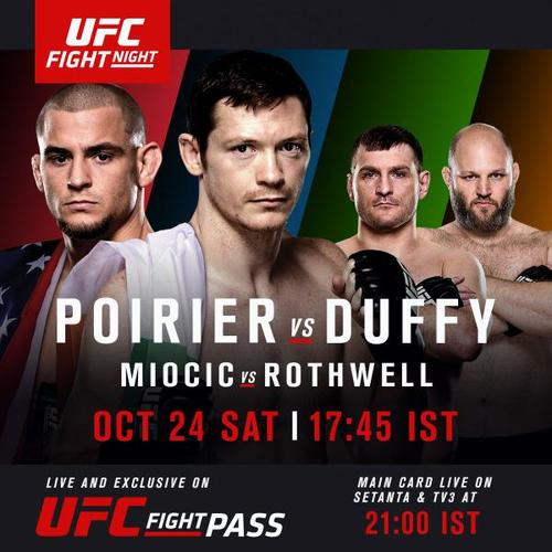 UFC FIGHT NIGHT®: POIRIER vs. DUFFY TO AIR FREE ON TV IN UK & IRELAND