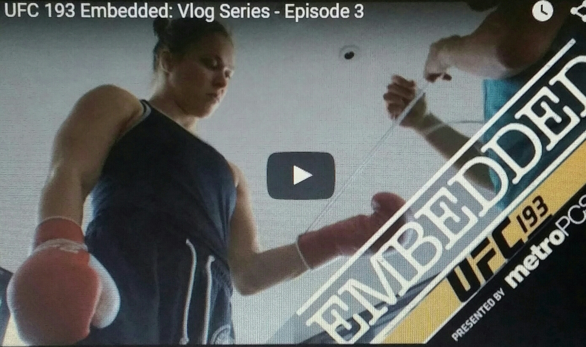 UFC 193 Embedded Episode 3: 'I'd go bankrupt to make sure I've prepared for a fight right' – Ronda Rousey