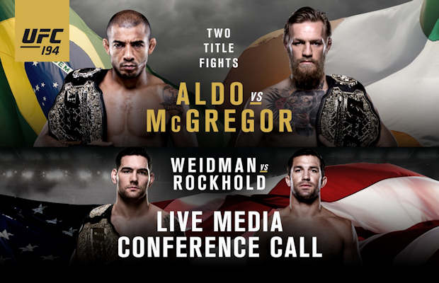 Tonight UFC 194 Media Call Aldo/McGregor and Weidman/Rockhold