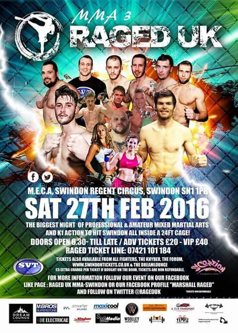 RAGED UK MMA 3 Returns February 27th @MECA Swindon