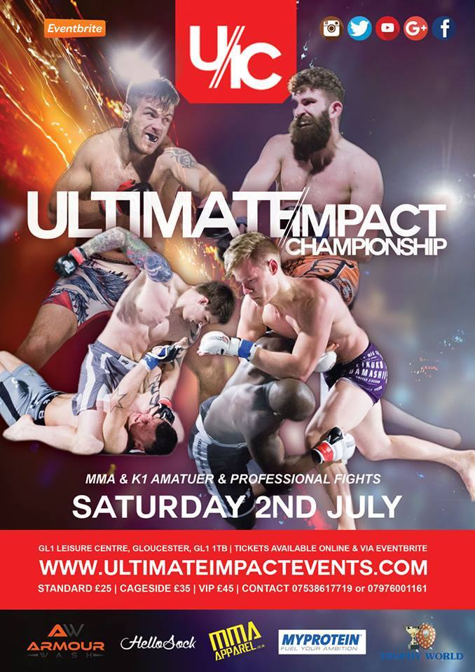 Ultimate Impact Championship 17 returns Saturday July 2nd at GL1 Leisure Centre,Gloucester