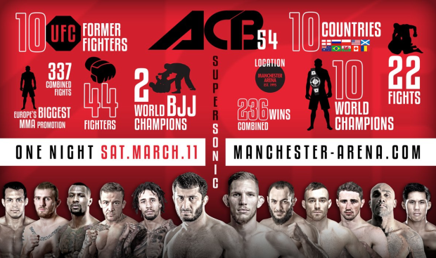 ACB 54: Live results and Action from Manchester, England – Mamed Khalidov Knocked Out Luke Barnatt in :21 seconds!