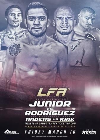 Legacy Fighting Alliance 6 Results: RIVALDO JUNIOR VS. RAYRODRIGUEZ