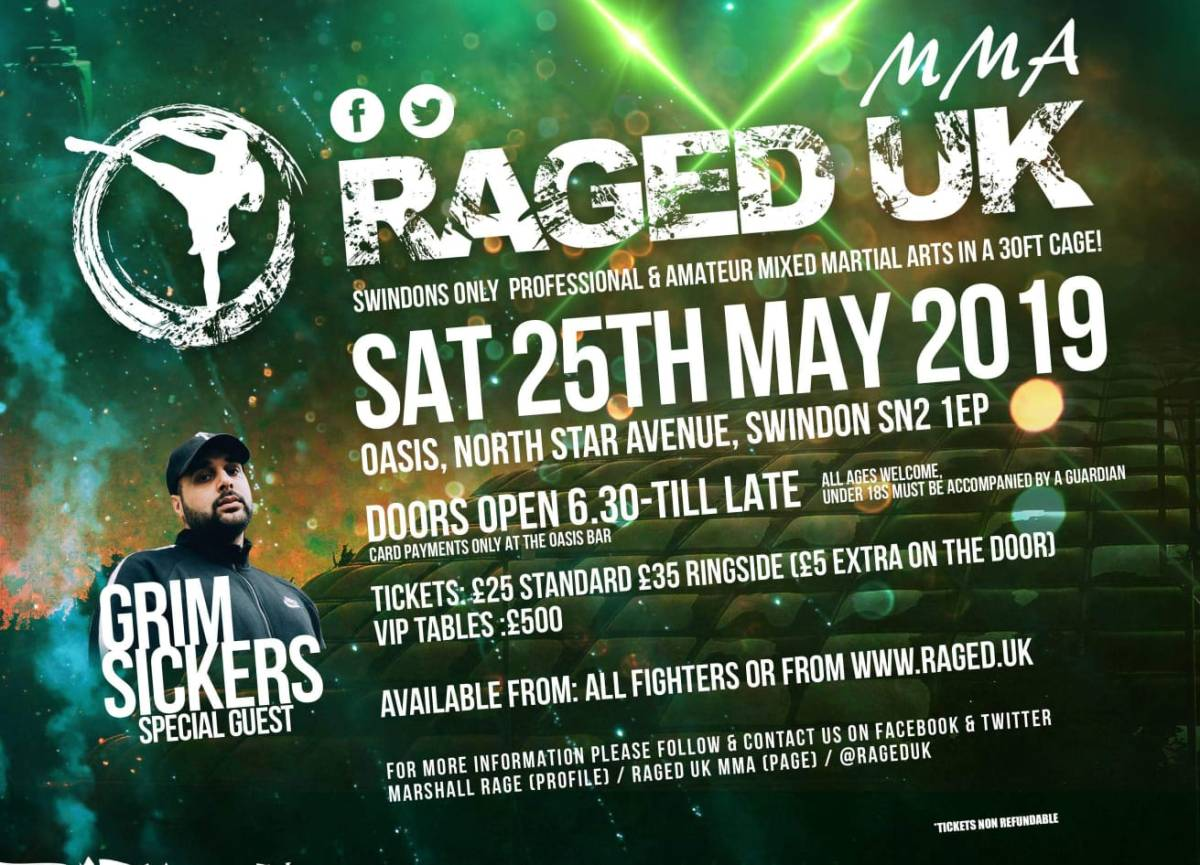 RAGED X – The rise of the MMA fight scene in Swindon