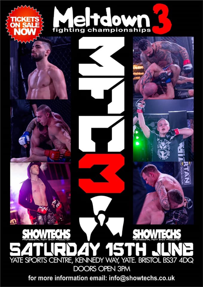 Meltdown Fighting Championships back in Bristol on Saturday, June 15th, 2019
